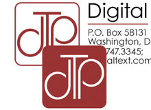 Digital Text Plus, company logo and stationary. © DTP, 2003