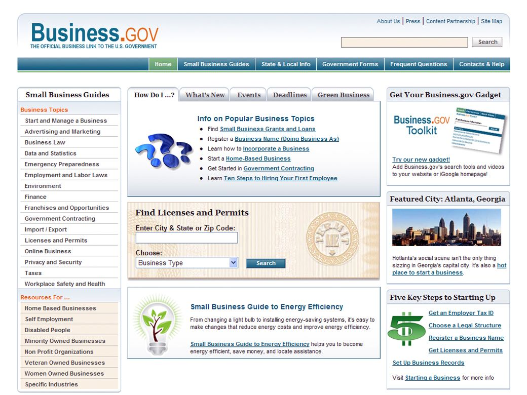 Business.gov, SRA