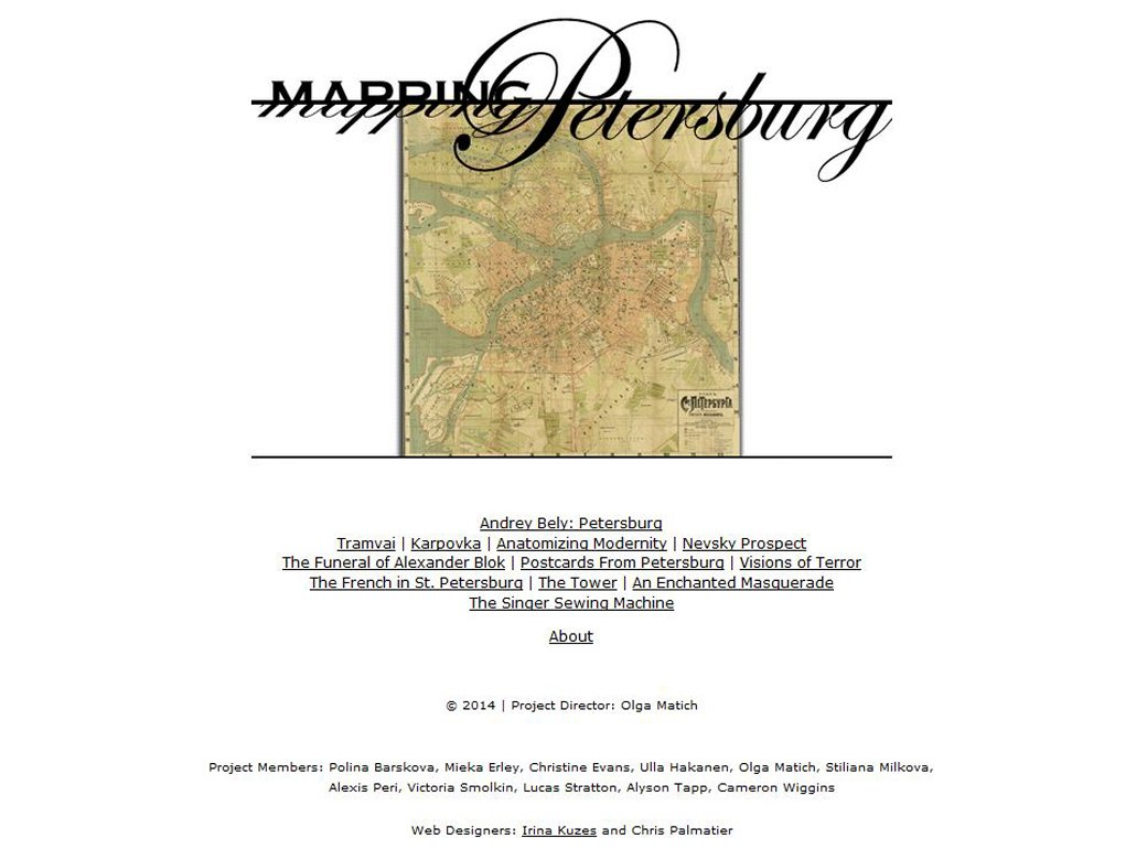 <em>Mapping Petersburg</em>, UC Berkeley